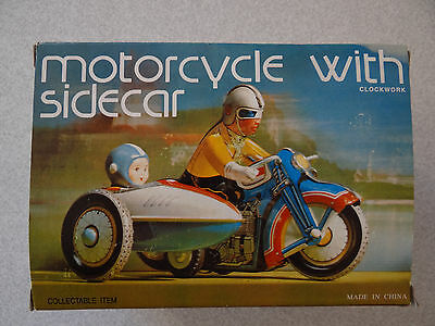 Motorcycle with Sidecar Tinplate Toy
