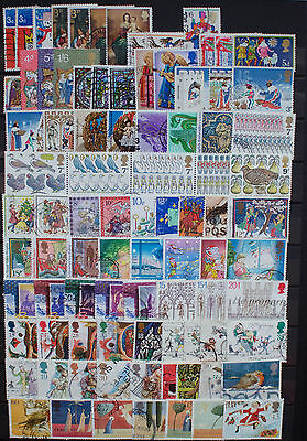 Collection of British Christmas Coms Used Postage Stamps