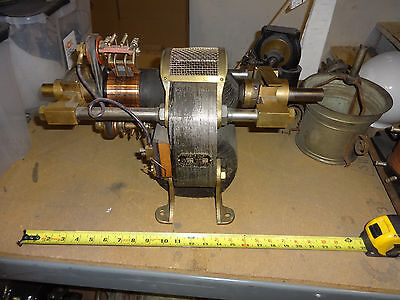Perret's patent  1/2 HP bipolar motor 110 Volts # 3672 great condition 1890's