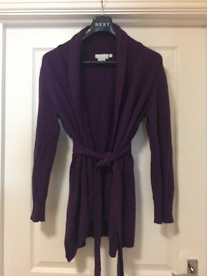 JOJO MAMAN BEBE Maternity Soft Knit Purple Cardigan size L uk 14/16