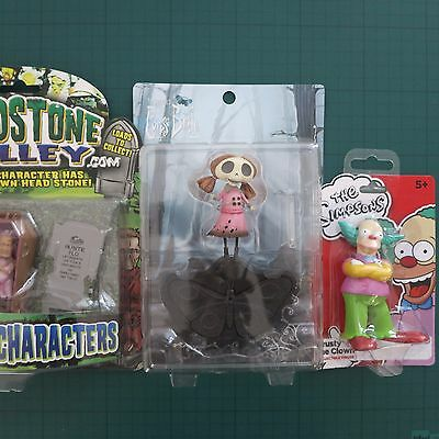 Corpse Bride + Krusty the Clown + Deadstone toy action figures