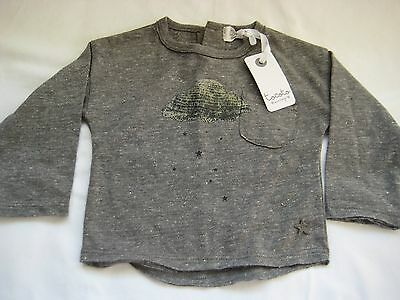 Tocoto Vintage Cinza Grey Cloud Long Sleeve T-shirt 1-3 M