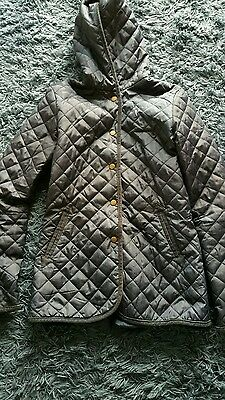 Girls navy quilted effect jacket 14-15years