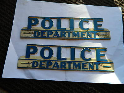 license plate topper police department