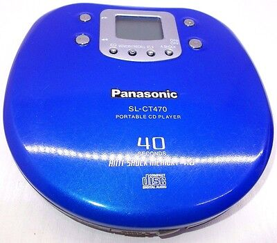 Vintage discman personal portable cd player Panasonic SL-CT470 Made in Japan