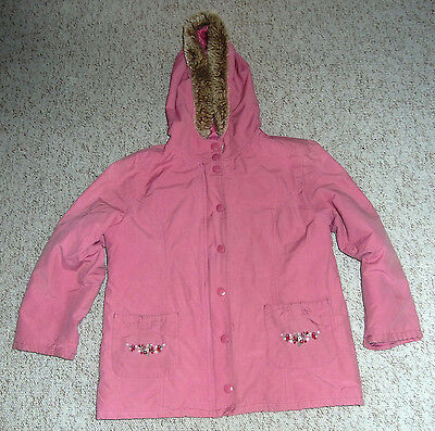 Gymboree Girls Hooded coat with Hooded zip in fleecy cardigan, size M