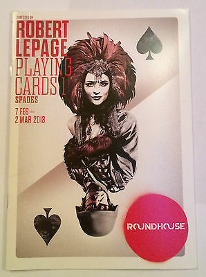 Roundhouse Playing Cards Spades Theatre Programme - Robert Lepage