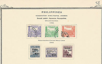 PHILIPPINES-Japanes Occup.1942-1943 sets Fine Used /LM MINT