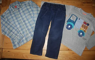NEXT etc boys 4-5 years checked shirt*top*cord trousers set*BLUEnext day post!