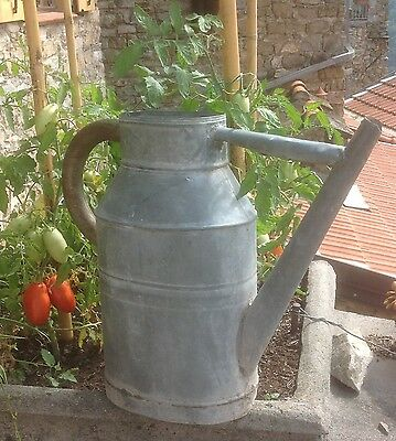 Authentic Vintage French zinc / galvanised  Watering can