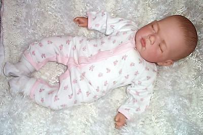 Sleeping Reborn Baby Girl Doll Child Friendly + Magnetic Dummy