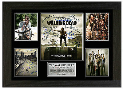 The Walking Dead - A3 Signed Framed Collectors Display