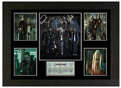 Suicide Squad  - A3 Signed Framed Collectors Display Picture