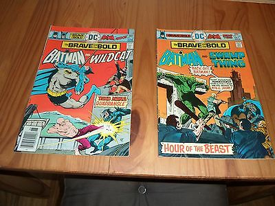 VINTAGE BRONZE AGE, BRAVE & THE BOLD COMICS #122 and 127 1978,HIGH GRADE ISSUES