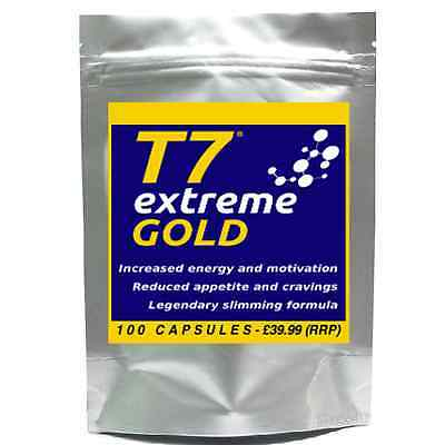 100 T7 EXTREME GOLD strong diet pills SLIMMING/WEIGHT LOSS; Appetite Suppressant