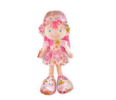 Pink Stuffed Emily Doll for girl 18 inch high, CE certified, velvet texture