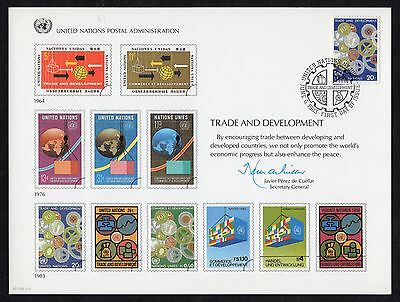 United Nations: Trade and Development; set of souvenir cards