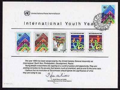 United Nations: International Youth Year; set of souvenir cards