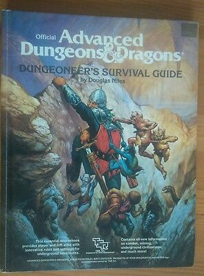 advanced dungeons and dragons dungeoneers survival guide book