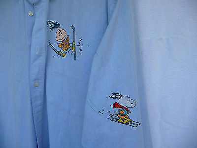 chemise brodée snoopy  Avenue of the stars taille L