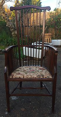 Arts & Crafts Stickback Elbow Chair Liberty and Co (att.)
