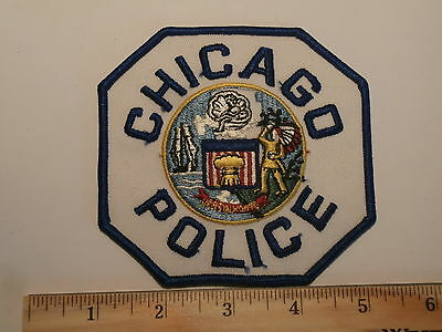 """CHICAGO POLICE""  Var.2   Blue/Blue on TWILL   UNISSUED   LAST ONE    LOOK!"