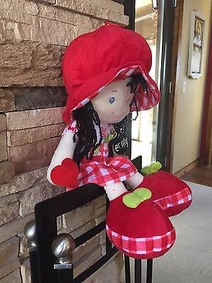 Red Suffed Doll Emily for Girl 18 inch high, CE certified, velvet texture