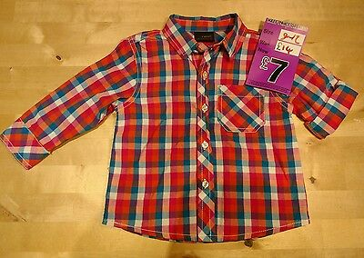 NEXT boys check shirt 9 - 12 months - unworn with tag