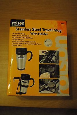 Rolson Stainless Steel Travel Mug with Holder