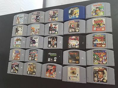 Lot of 25 Nintendo N64 Games Cleaned&Tested Diddy Kong Pokemon **FREE SHIPPING**