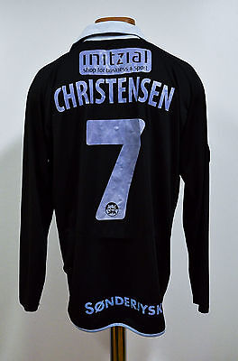 Sonderjyske Denmark Match Worn Issue Football Shirt Jersey Mitre Christensen #17