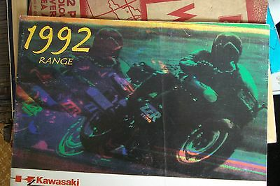 1992 Kawasaki Model Range Catalogue