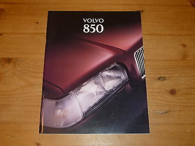 Volvo 850 1995 UK Sales Brochure (Car Booklet)