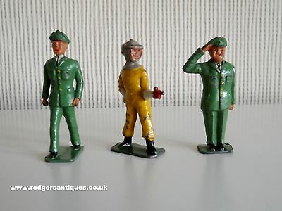 Crescent Toys 2 x DAN DARE FIGURES & DIGBY 1953 Original Painted Hollow Cast