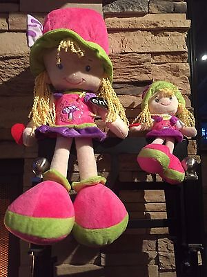 Combo Pink Stuffed Doll Emily Girl 18 inch high, CE certified, velvet texture