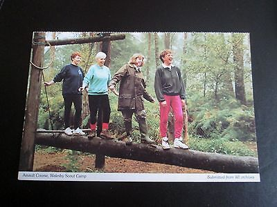Postcard - Assault Course Walesby Scout Camp  - Notts Fed'n of Women's Institute