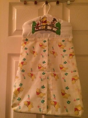 baby nappy stacker With Embroidered Winnie The Pooh Design