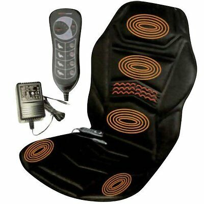 Massage Chair Heated Back Seat Massager For Car Home Relax Van Stress Best Deal*