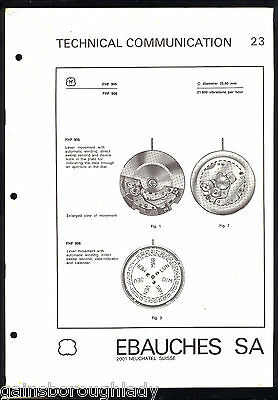 Repairs Parts~21/22/23/24 ~Ebauches Sa - Watch Technical Communication ~ 2001