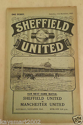 1930/31 Central League: SHEFFIELD UNITED RES. v BOLTON WANDERERS RES - 15th Nov.