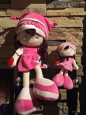 Combo Pink Emily Doll, Girl 18 inch high, 7.9 inch, CE certified, velvet texture