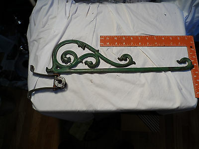 Vintage Wrought Iron Scroll Sign Holder Bracket  17 1/2 in 19 1/4 over all
