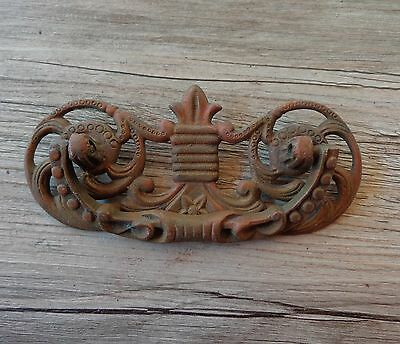 Vintage Victorian Ornate Heavy Cast Brass Dresser Drawer Handle Pull