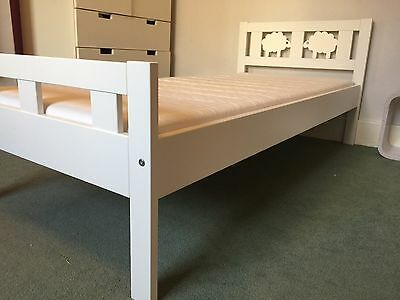 IKEA KRITTER Childrens Bed with slatted bed base and mattress
