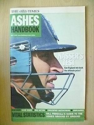 Cricket- 2001 The Times ASHES HANDBOOK, July