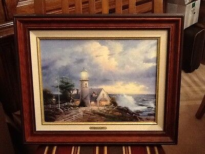 Thomas Kinkade A Light in the Storm Painting