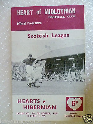 1959 HEART OF MIDLOTHIAN v HIBERNIAN, 5th Sept (Scottish League)