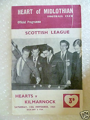 1959 HEART OF MIDLOTHIAN v KILMARNOCK, 14th Nov (Scottish League)