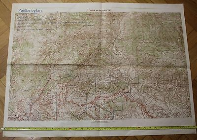orig. AUSTRIA KUK WW1 MILITARY BIG MAP ITALY PIAVE ISONZO FRONT 1918 ARTILLERY
