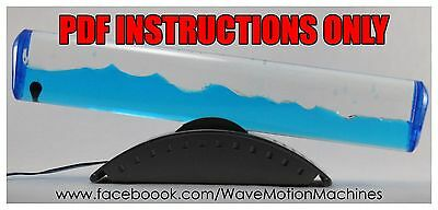 Discovery Store Tranquil Tide Wave Motion Machine PDF INSTRUCTIONS-Not a Machine